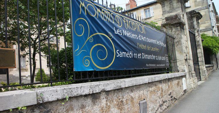 """Vous avez peut-être remarqué l'affiche """"Moments d'exception"""" à l'entrée de l'Hôtel de Laurière ?"""